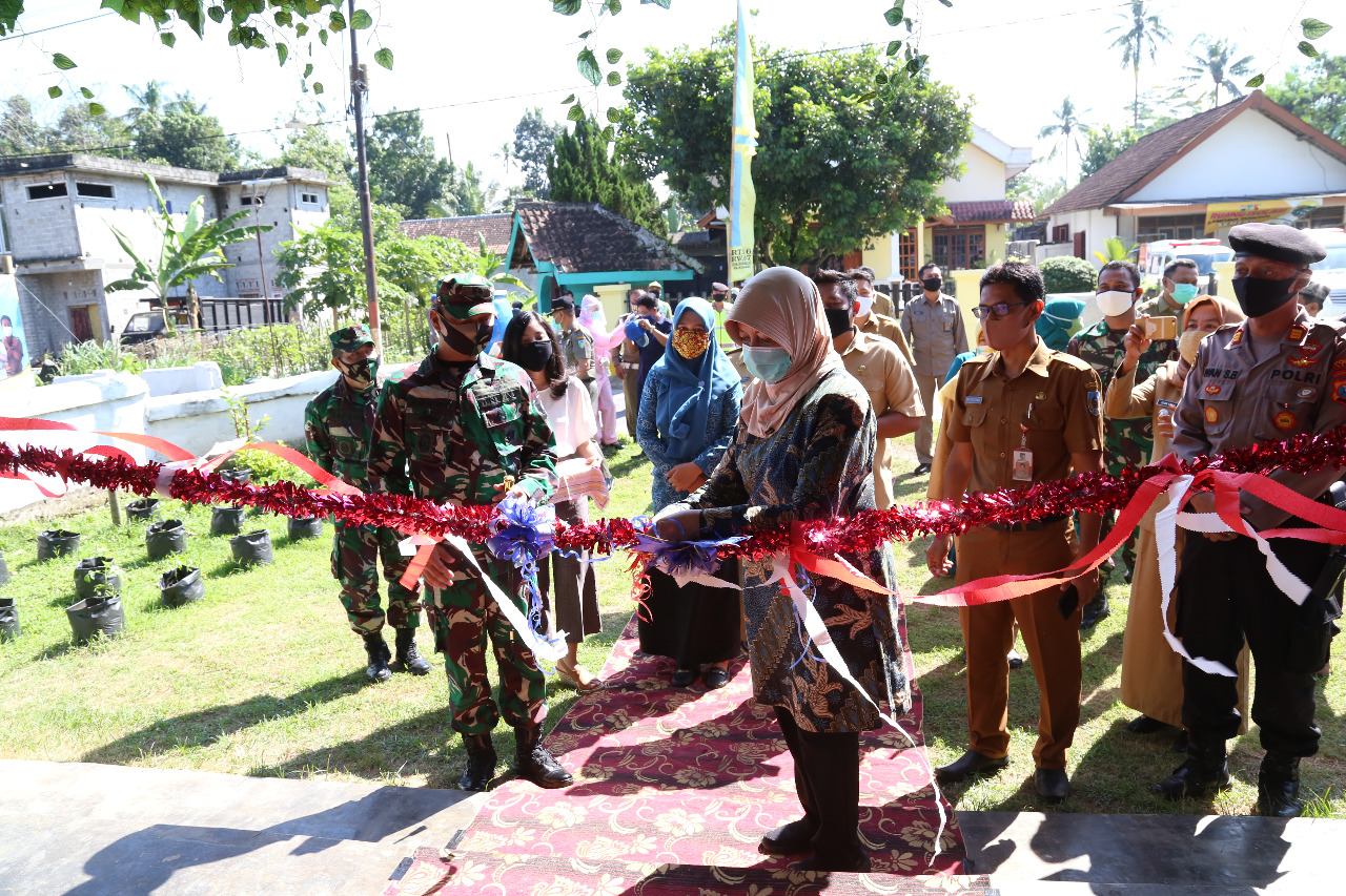 Bupati Kediri Meresmikan Kampung Tangguh Semeru Desa Kunjang Kec.Ngancar