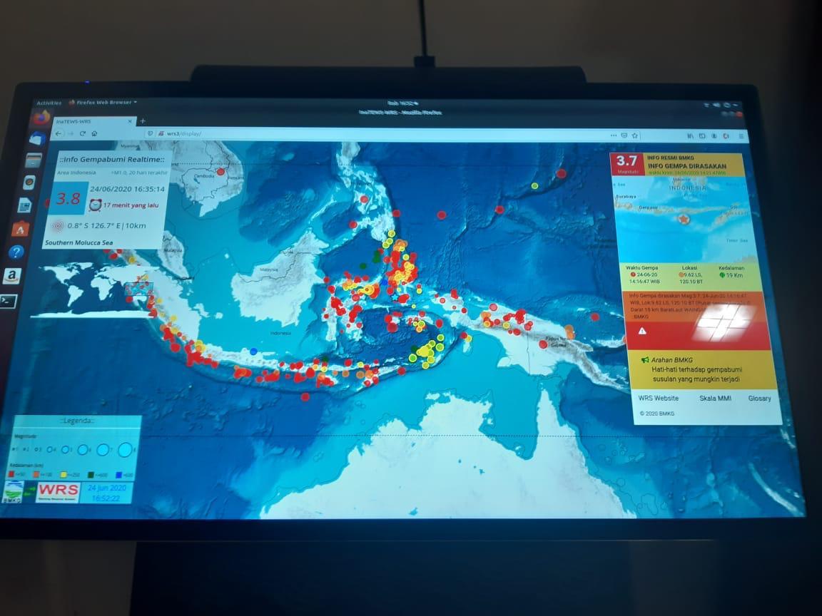 Pemkab Kediri Mendapat Bantuan Warning Receiver System (WRS) Dari BMKG Pusat