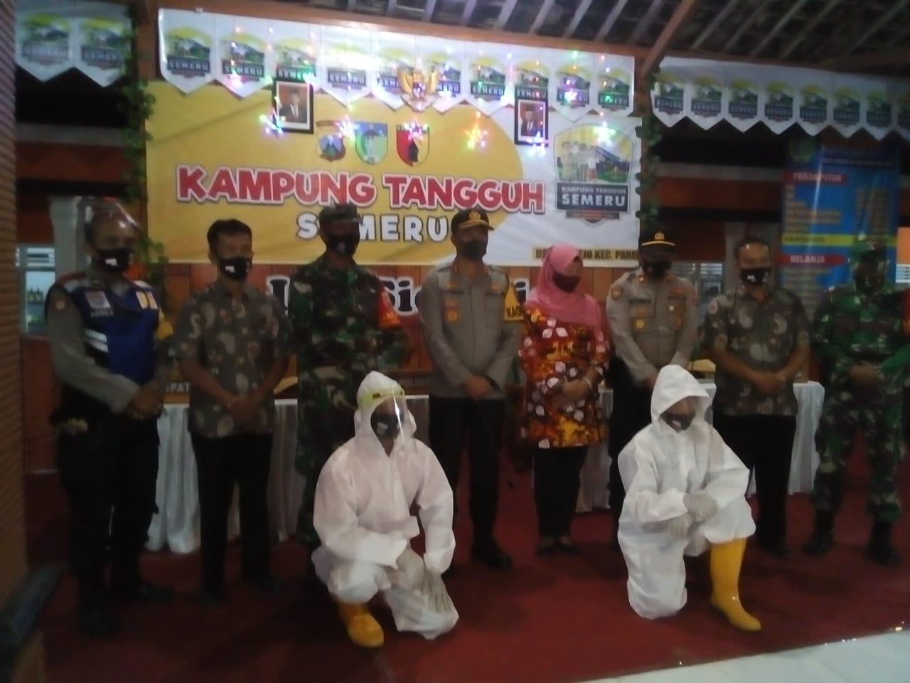 Kapolres Kediri Resmikan Kampung Tangguh Semeru Desa Sidorejo