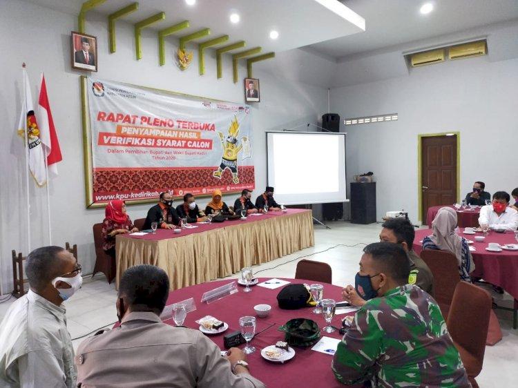 KPU Kabupaten Kediri Gelar Rapat Pleno Verifikasi Syarat Calon