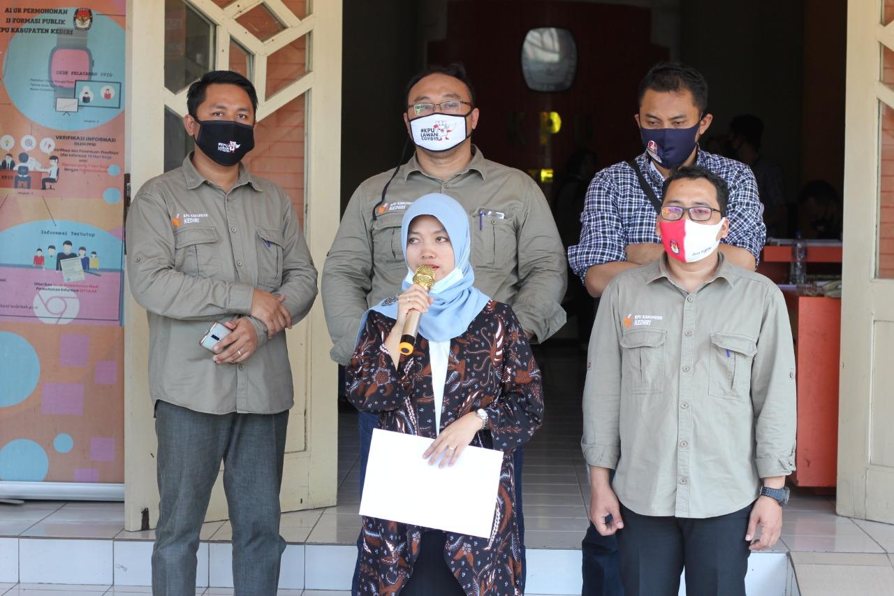 Dhito-Dewi Ditetapkan Sebagai Paslon Bupati dan Wakil Bupati Kabupaten Kediri Pada Pilkada Serentak 2020