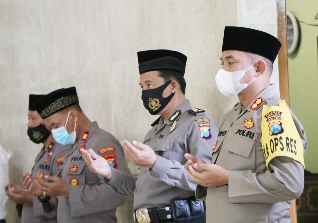 Polres Kediri Kota Gelar Doa Bersama Memperingati Maulud Nabi Muhammad SAW 1442 H