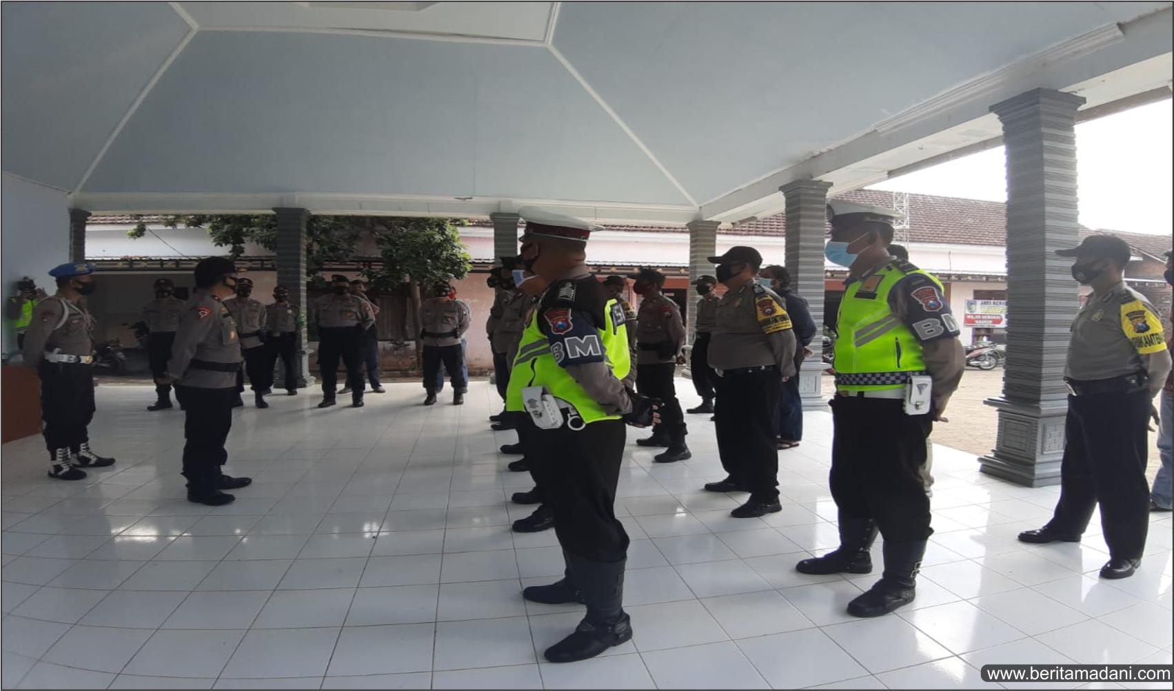 Polresta Kediri Kota Lakukan Pengamanan Kampanye Calon Bupati dan Wakil Bupati Kediri Dhito-Dewi