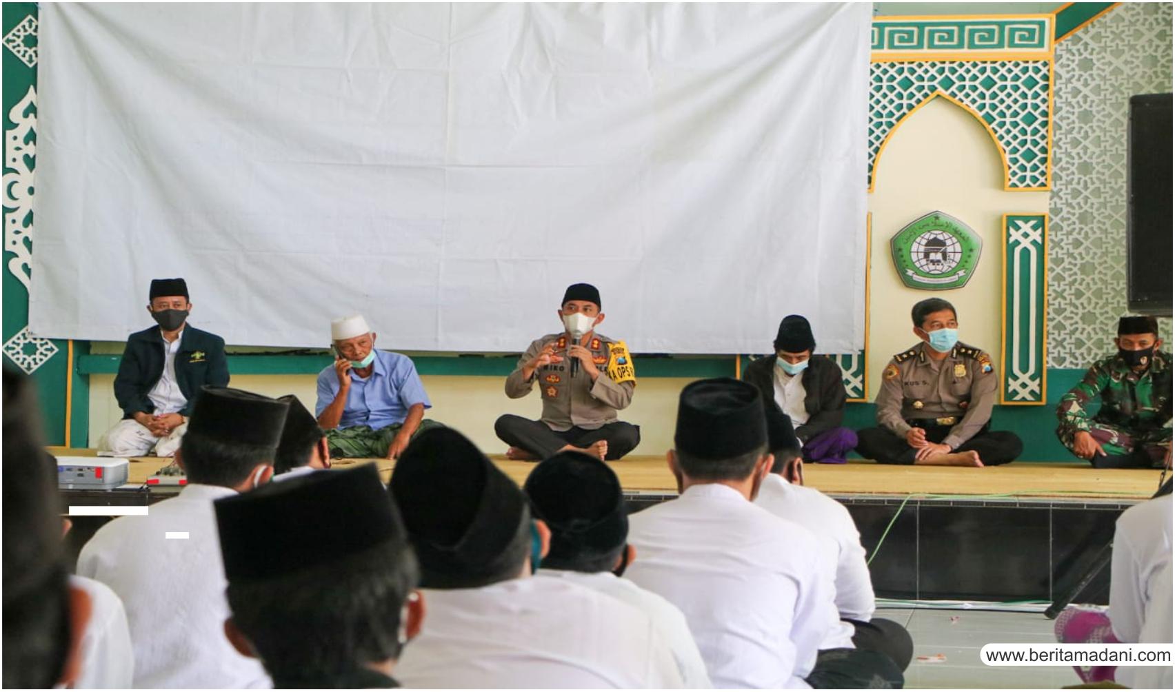 Hari Santri 2020 Kapolres Kediri Kota Lakukan Silaturahmi di Ponpes Al-Amin Rejomulyo