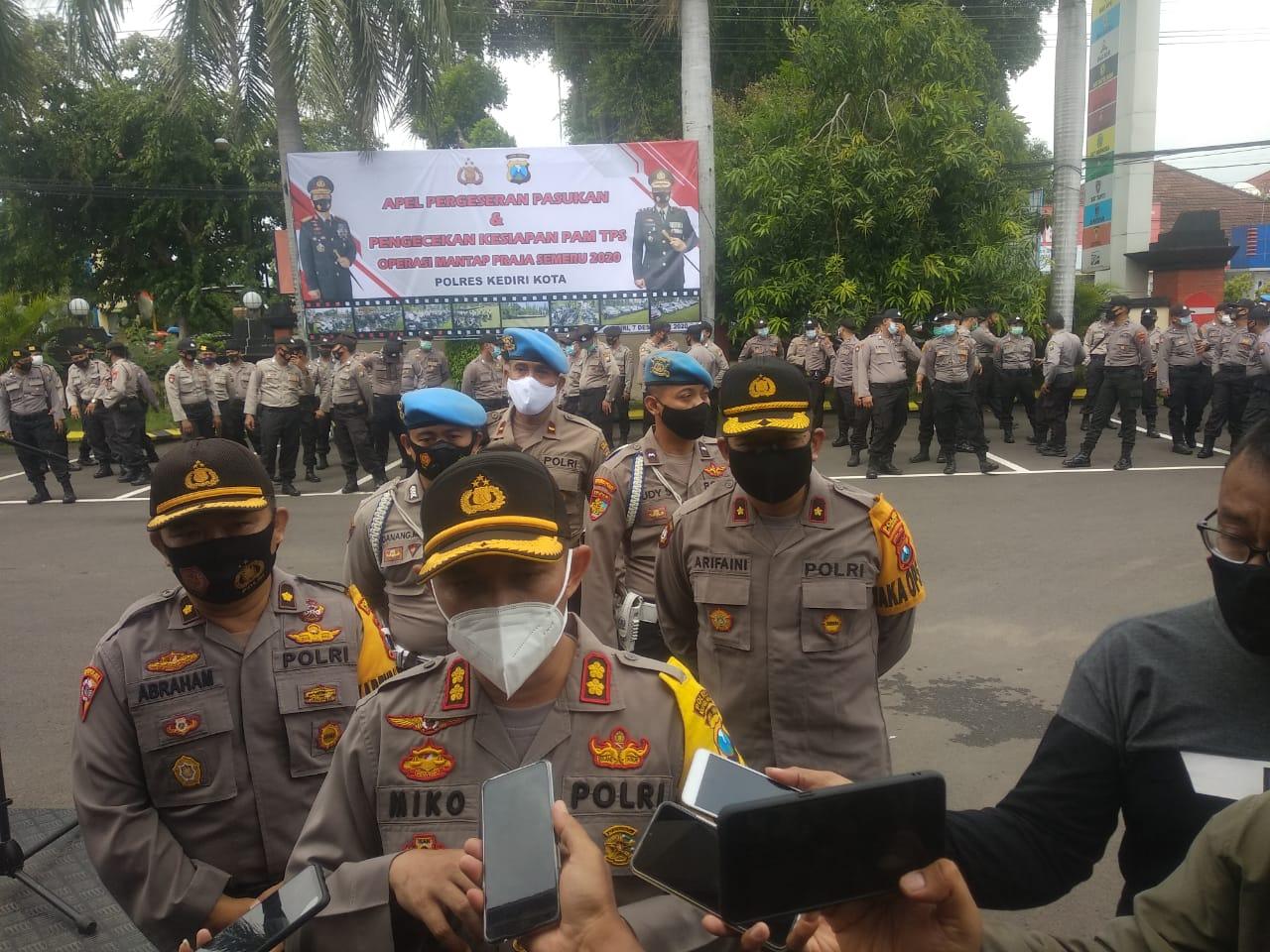 Polres Kediri Kota Apel Pasukan dan Terjunkan Tim Anti Botoh Jelang Pilkada