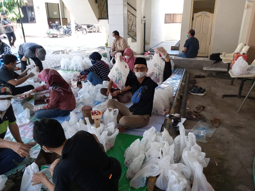 Iduladha 1442 H Keluarga Besar BPN Kabupaten Kediri Adakan Penyembelihan Hewan Qurban