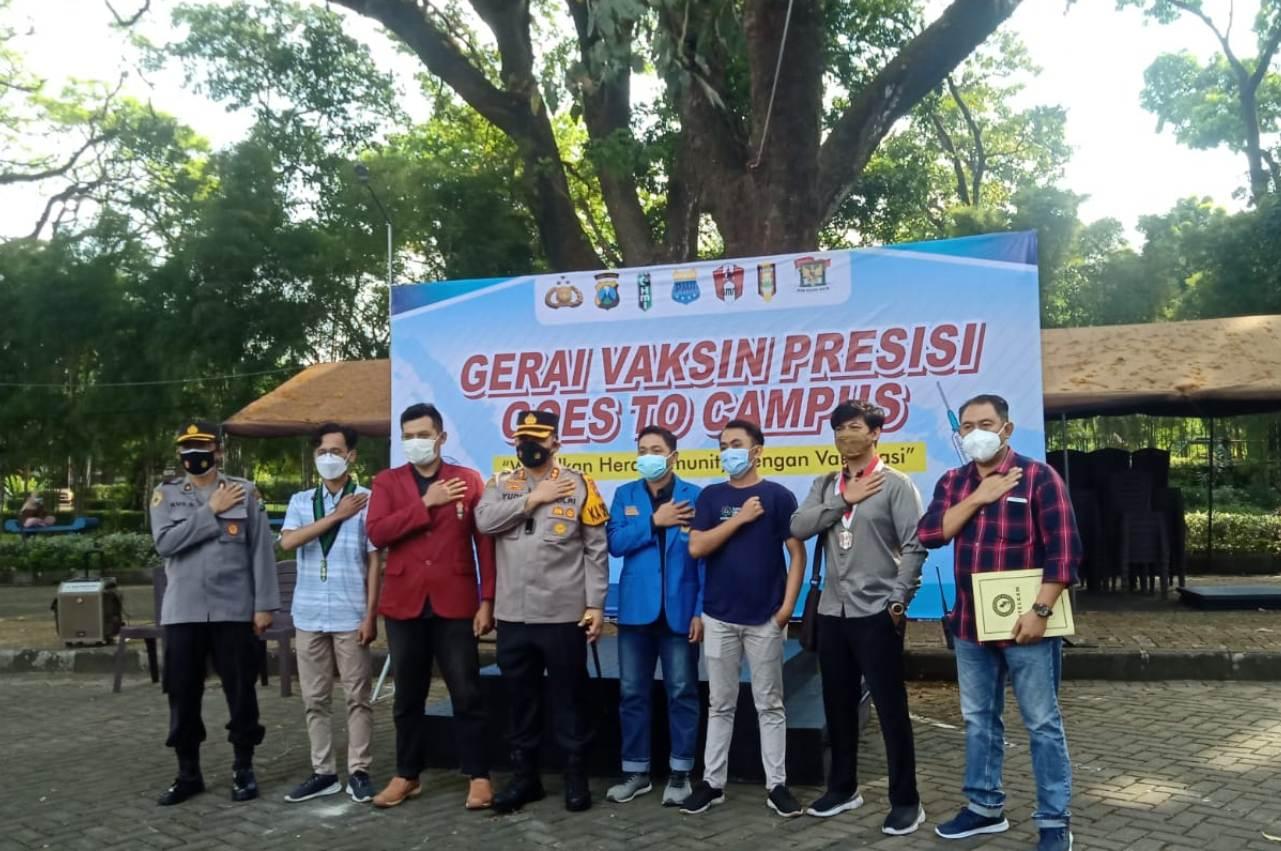Polres Kediri Kota Gelar Vaksinasi Goes to Campus