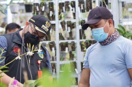 Mas Bup Sobo Deso Sambangi Petani Anggrek di Desa Banjaranyar Kecamatan Kras