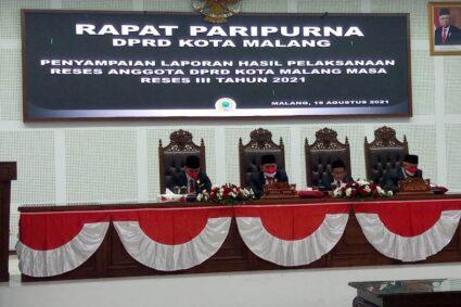 Sidang Paripurna DPRD Kota Malang Dalam Rangka Mendengarkan Pidato Kenegaraan Presiden RI