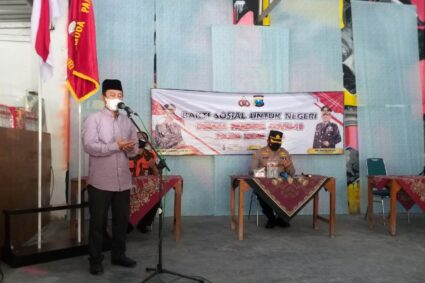 Polres Kediri Kota Salurkan Bansos untuk Keluarga Besar Pemuda Pancasila dan Warga Sekitar